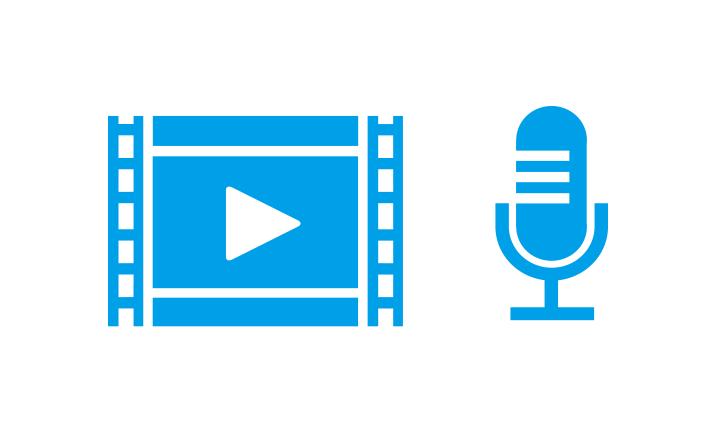 15秒の動画撮影・音声イメージ